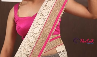 How to wear a net saree in different styles | Newlook