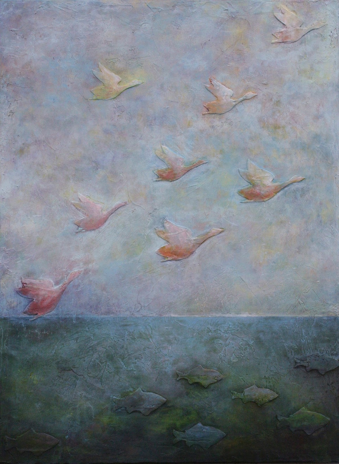 Current works by linda carmel august 2016 for Flying fish carmel