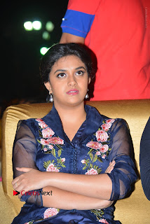 Actress Keerthi Suresh Stills in Blue Long Dress at Nenu Local Audio Launch  0024.JPG