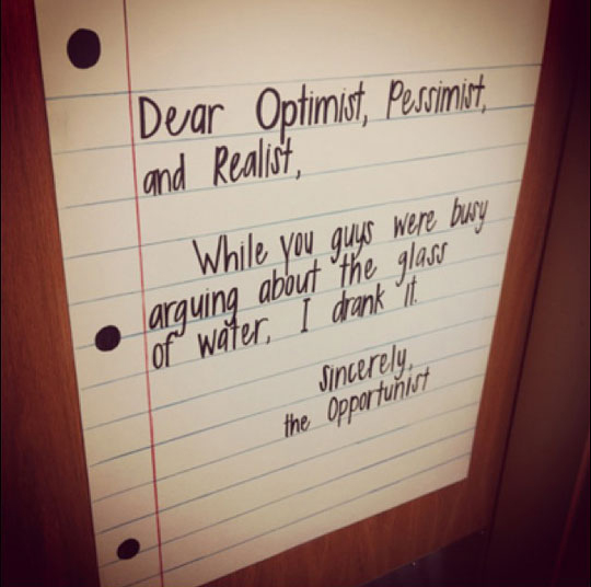 Sincerely, The Opportunist