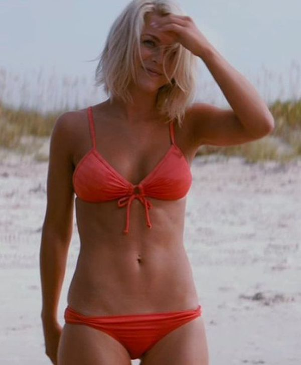 "Retro Bikini: Julianne Hough Shows Off ""Red Bikini"" In ..."