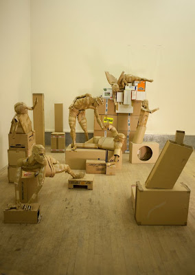 Esculturas con cartón reciclado