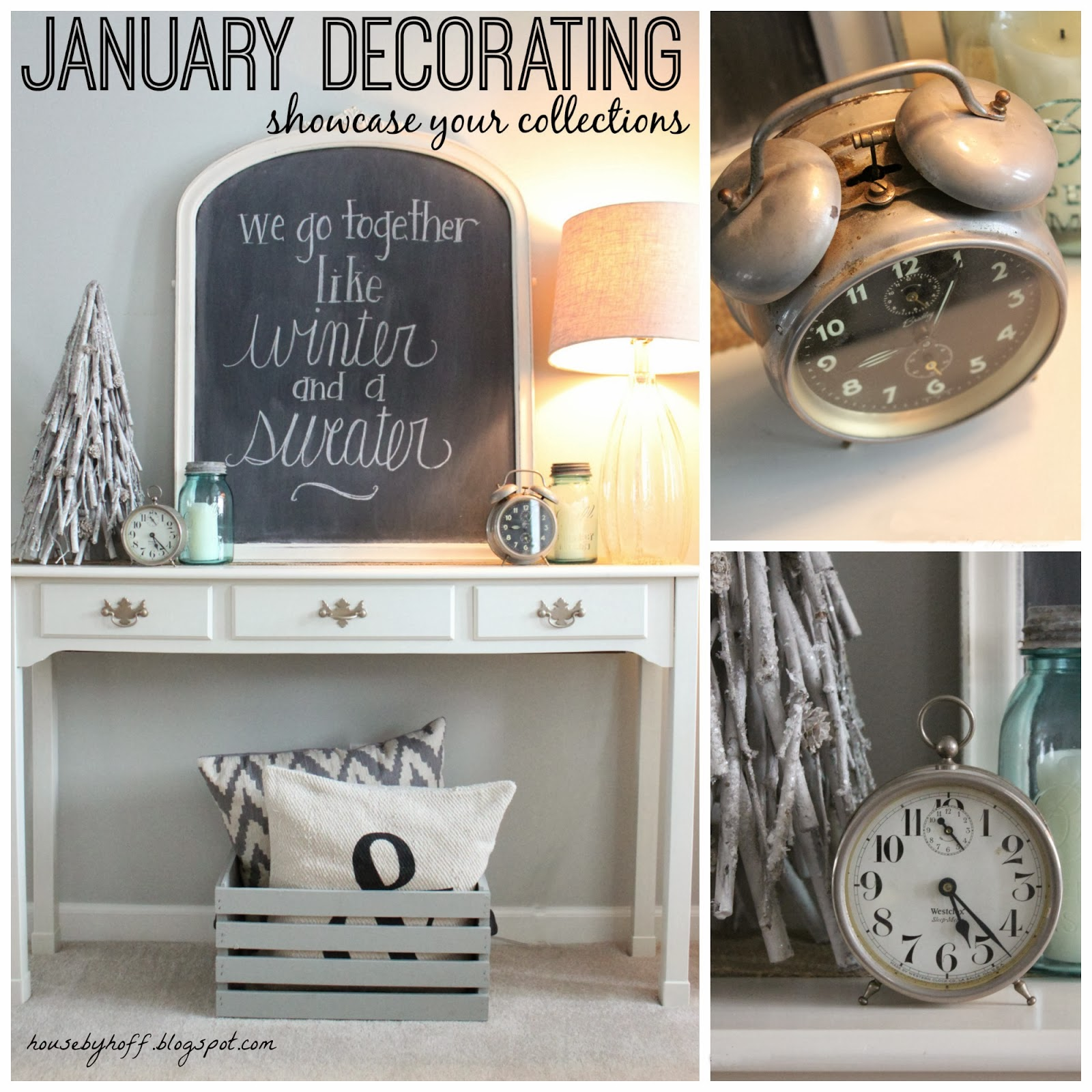 January Decorating Ideas: January Decorating: A Winter Chalkboard + Showcasing Your
