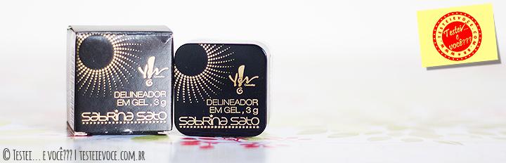 Delineador em Gel (Preto) Sabrina Sato - Yes Cosmetics