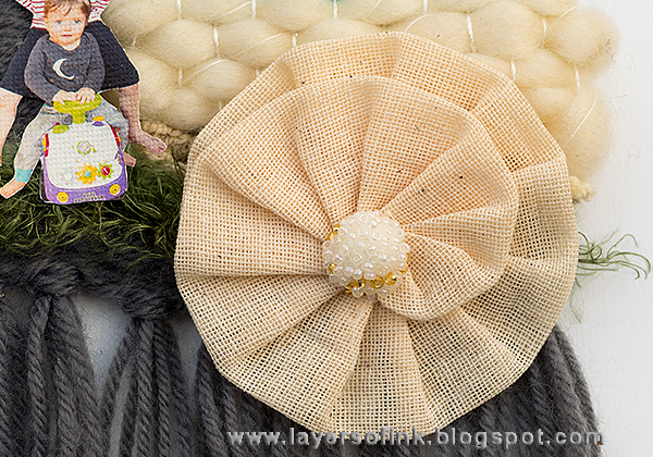 Layers of ink - Home Loom Weaving by Anna-Karin, with Prima Marketing Desert Sun Fiber Arts Loom Kit