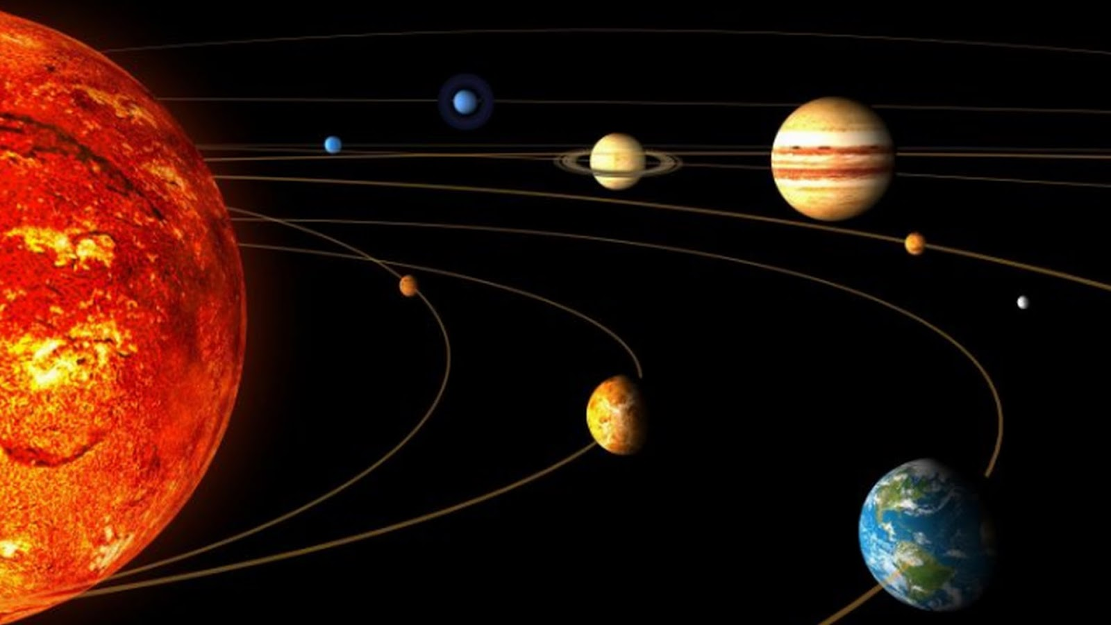 outer planets of the solar system - HD1600×900