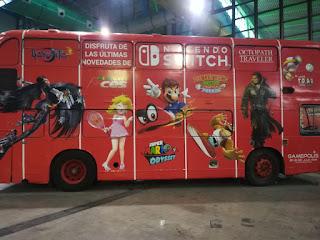 Autobús de Nintendo en Gamepolis 2K18
