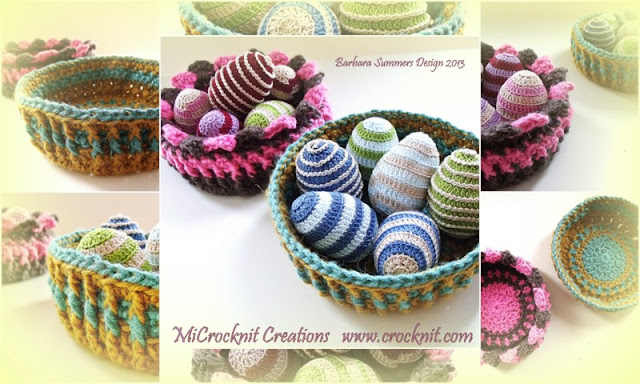 CROCHET BOWLS EASTER EGGS