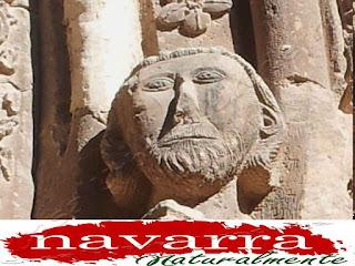 197  Iglesia San Román  Cirauqui Portada  Figuras y Capiteles  Derecha -  Rostro y Cara  de Hombre www.casaruralurbasa.com
