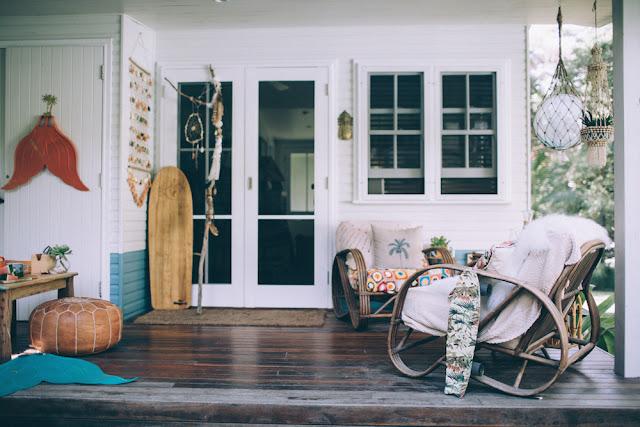 kazzie mahina,mahina mermaid,mermaid,sirène,palmes,australie,déco,rotin,vintage,outdoor,terrasse,beach shack,beach bungalow