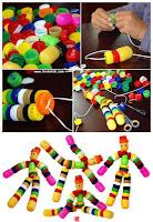 muñecos reciclados con tapitas