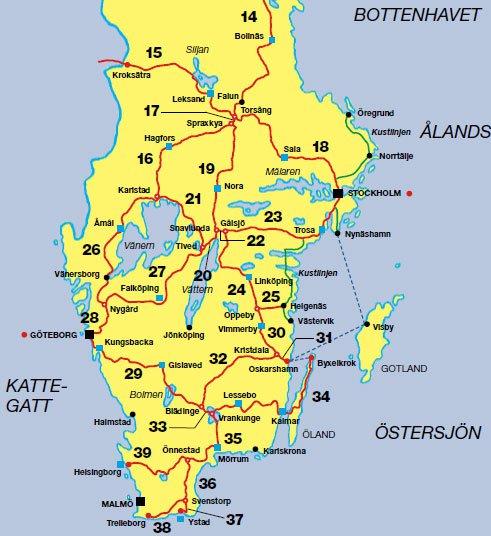 sverigeleden karta Sydkusten Skåne: januari 2016 sverigeleden karta