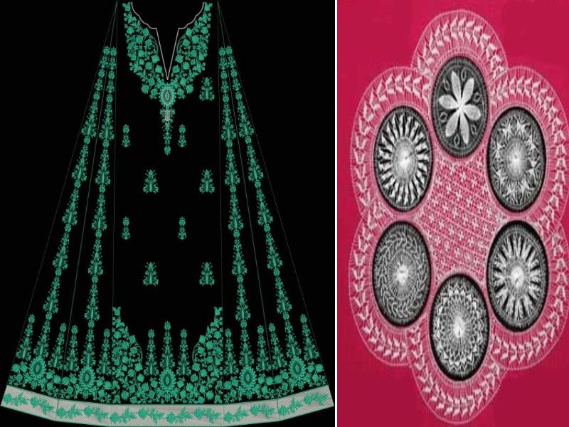 embroidered neckline designs