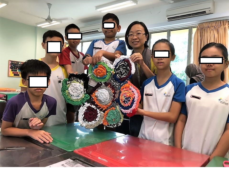 Upcycling workshop in Singapore