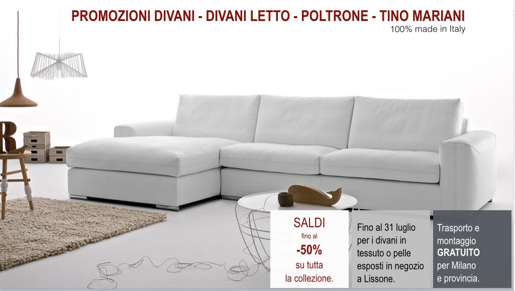 Divani blog  Tino Mariani Promozioni divani e divani letto Tino Mariani