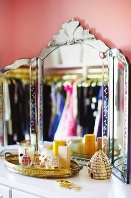 Espejo triptico estilo veneciano vintage