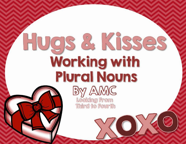 http://www.teacherspayteachers.com/Product/Hugs-and-Kisses-Working-with-Plural-Nouns-1102648