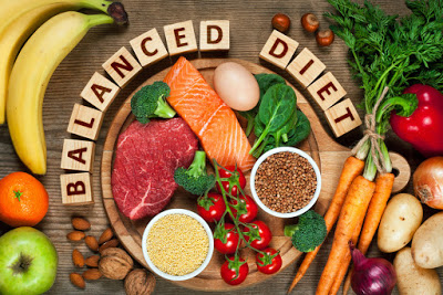 balanced diet can help you to lose weight on your face