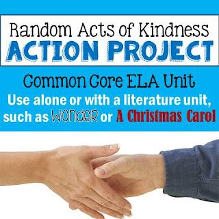 Random Acts of Kindness Action Project: Common Core ELA Unit