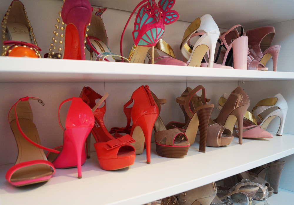 Jedným z nich sú topánky (45 párov). Navrhla som pre nich jednu celú  skriňu 9ea7d07302