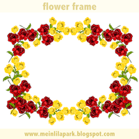 redyellow flower frame