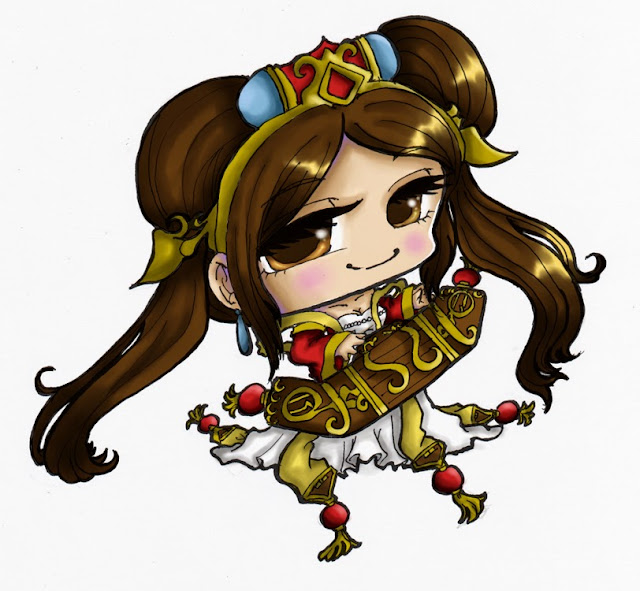 sona chibi cartoon