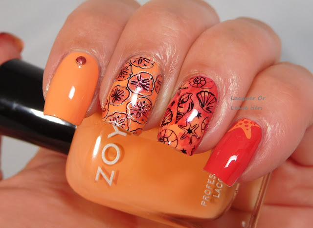 Lina Nail Art Supplies Born To Sail 02 over Zoya Sawyer and Sonja
