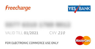 FreeCharge Virtual credit card