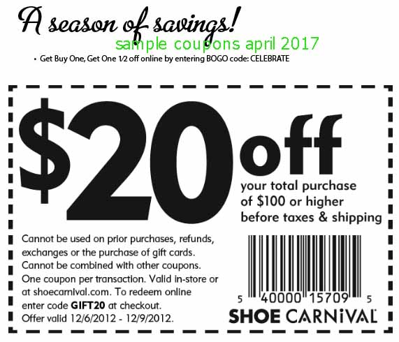 Printable Coupons 2018: Shoe Carnival Coupons