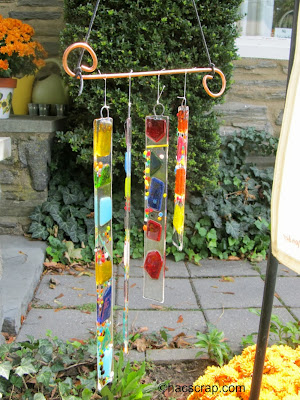 My Scraps | Pressed Glass Wind Chime
