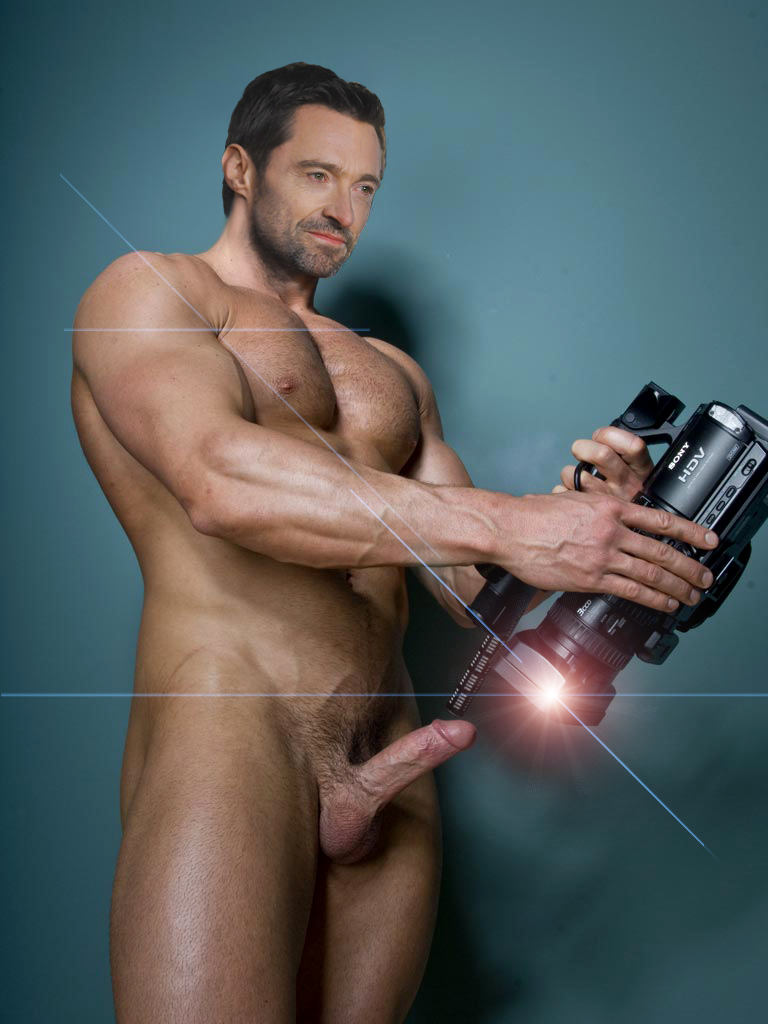 hugh jackman swimming nude