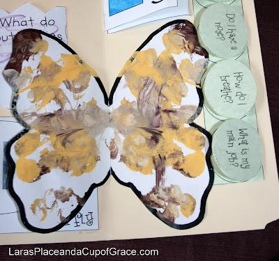 toddler art, homeschool art, butterfly unit study