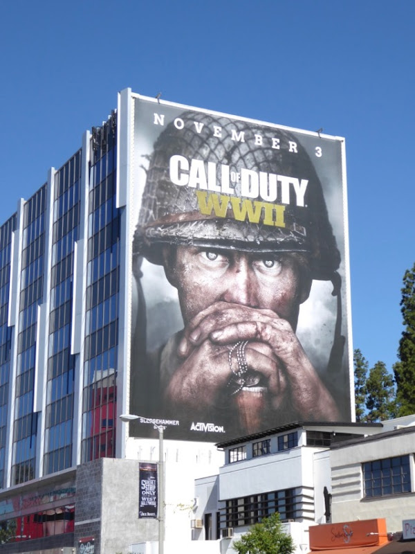 Giant Call of Duty WWII video game teaser billboard