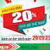 Khuyến mãi Viettel tặng 20% ngày 29/09/2018