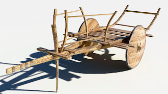 Ahşap kağnı arabası