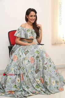 Actress Pragya Jaiswal Stills in Floral Dress at turodu Interview  0169.JPG