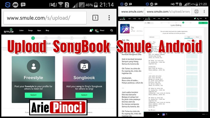 Cara Upload Lagu SongBook Smule Android