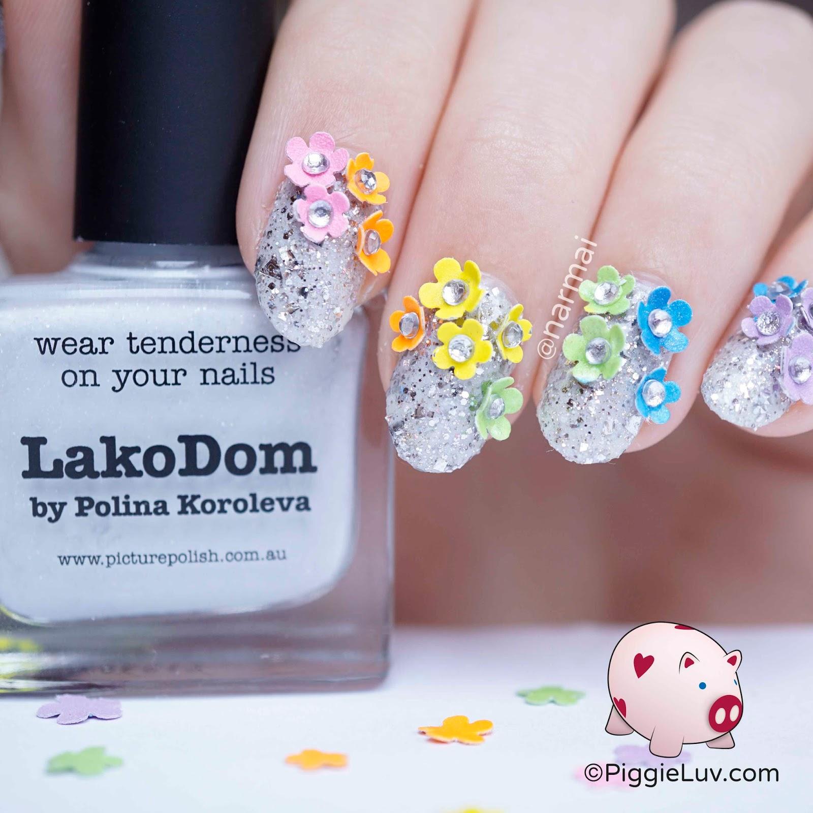PiggieLuv: Fantasy garden nail art