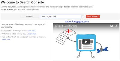 Gambar daftar blog ke google webmaster tools