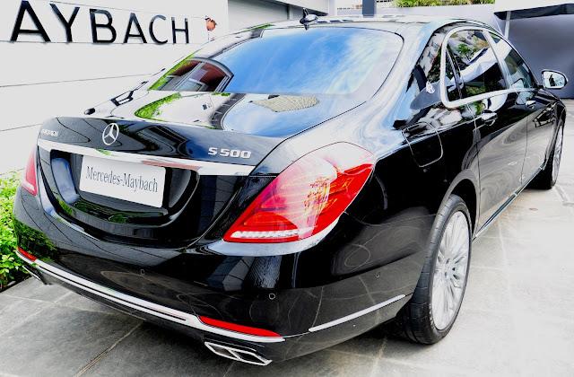 Đuôi xe Mercedes Maybach S500 thiết kế sang trọng đẳng cấp