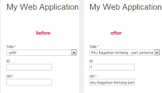Autofill with Jquery Yii