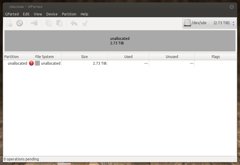 Partitioning and Formatting a 3TB Harddrive as NTFS within