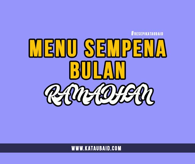 menu sempena bulan ramadhan