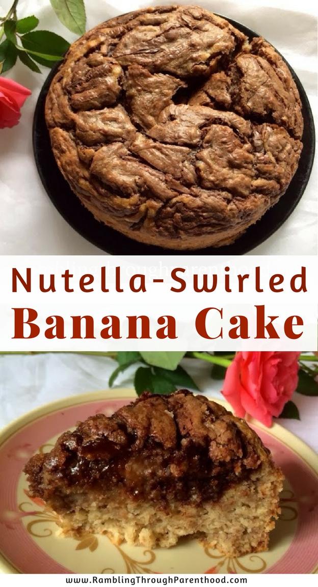 Nutella - Swirled Banana Cake