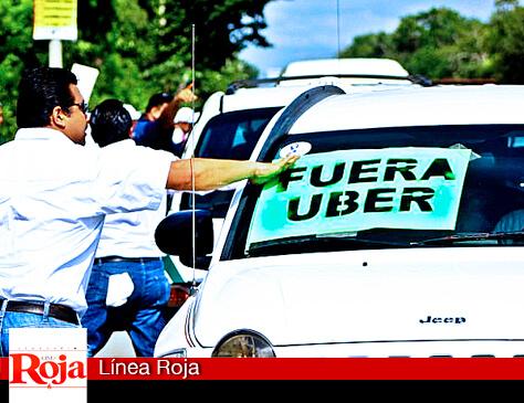 Taxistas ganan el primer round; el TEQRoo frena la consulta de UBER