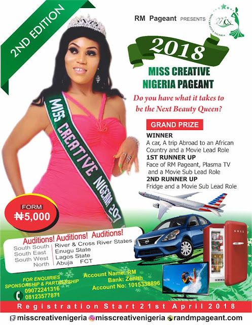 "IMG 20180428 WA0007 - 2018 ""Miss Creative Nigeria"" registration - How To Apply"
