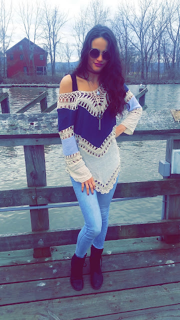 she inside, shein, she inside official, fashion, blogger, kayla kruse, kaylas vibrations, crochet top, she inside top, ootd, outfit of the day, product review
