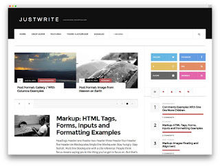 Justwrite wordpress free theme