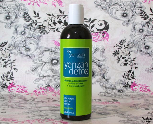 Yenzah Detox: shampoo desintoxicante que purifica o cabelo e o couro cabeludo