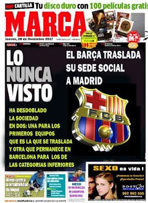 El Fútbol Club Barcelona traslada su sede social a Madrid